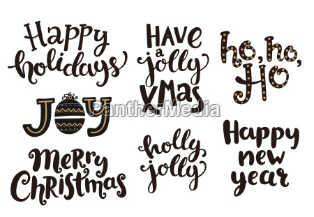holidays lettering phrases