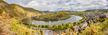 autumn moselle panorama landscape and the