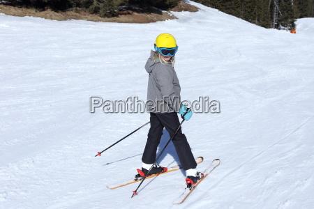 departure on ski slope