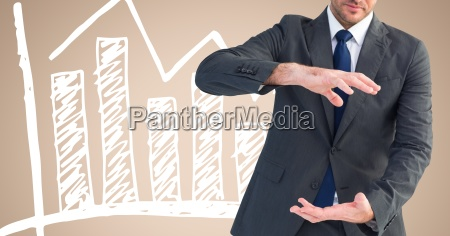 composite image of businessman gesturing and