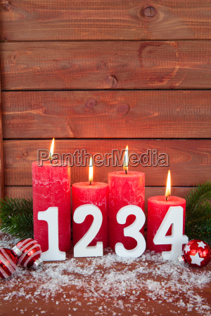 happy christmas decoration with candles