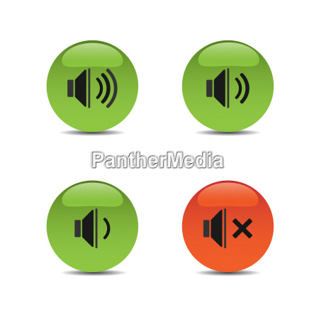 sound icons on colored buttons and
