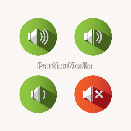sound icons with shade on colored
