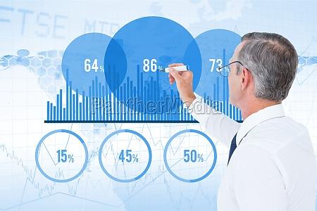 digital composite image of businessman making