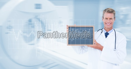 digitally generated image of male doctor