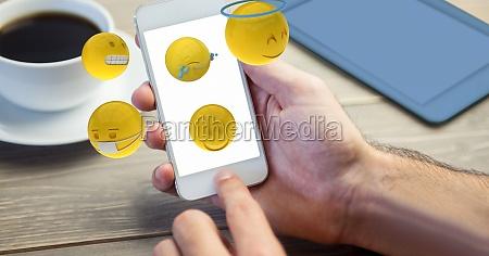 digital composite image of hand using