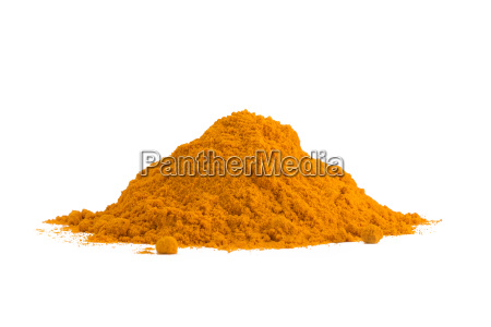 turmeric curcuma powder isolated on