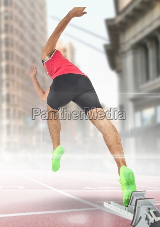 composite image of man at athletic