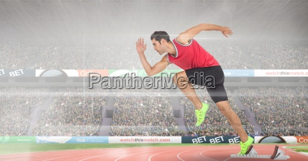 composite image of man at sport