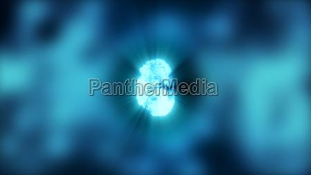 abstract background with fingerprint digital illustration