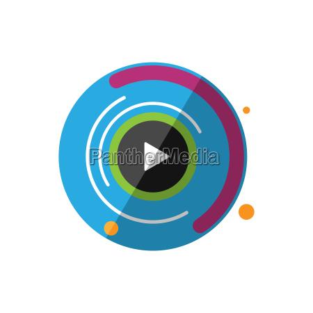 motion graphics icon digital animation vector