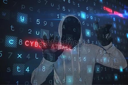composite image of man against digital
