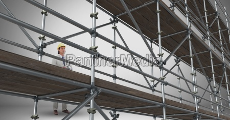 composite image on man at work
