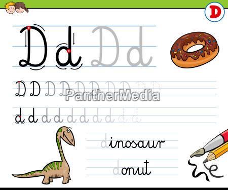 how to write letter d worksheet