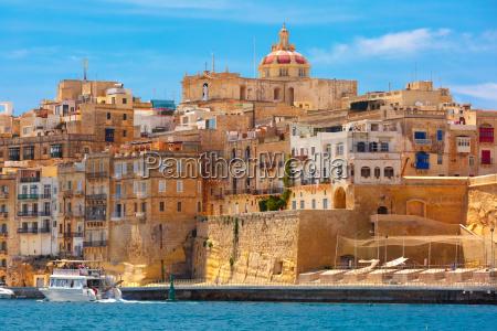 ancient fortifications of valletta malta