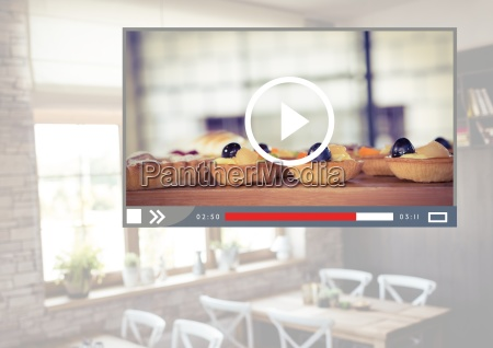 cafe baking cakes video player app