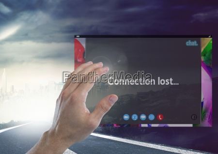 hand touching connection lost social video
