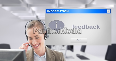 customer service executive using headset by