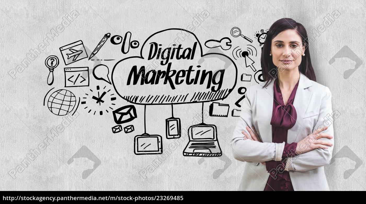 digital, composite, image, of, businesswoman, standing - 23269485