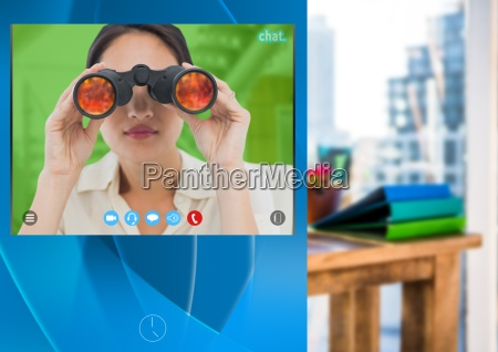 social video chat app interface with