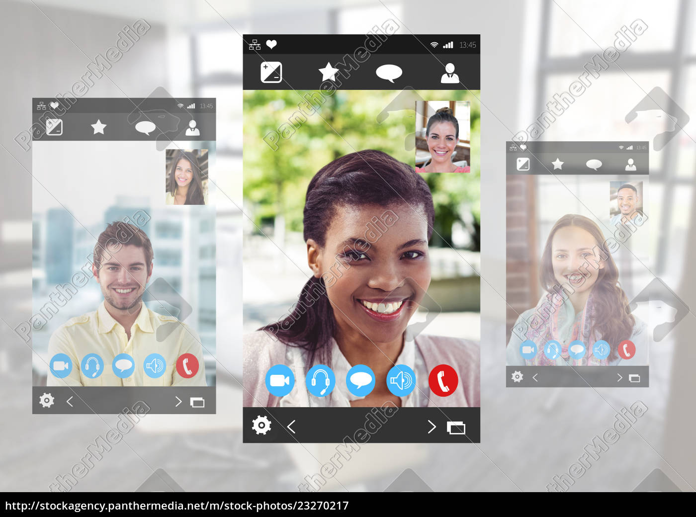 social, video, chat, app, interface - 23270217