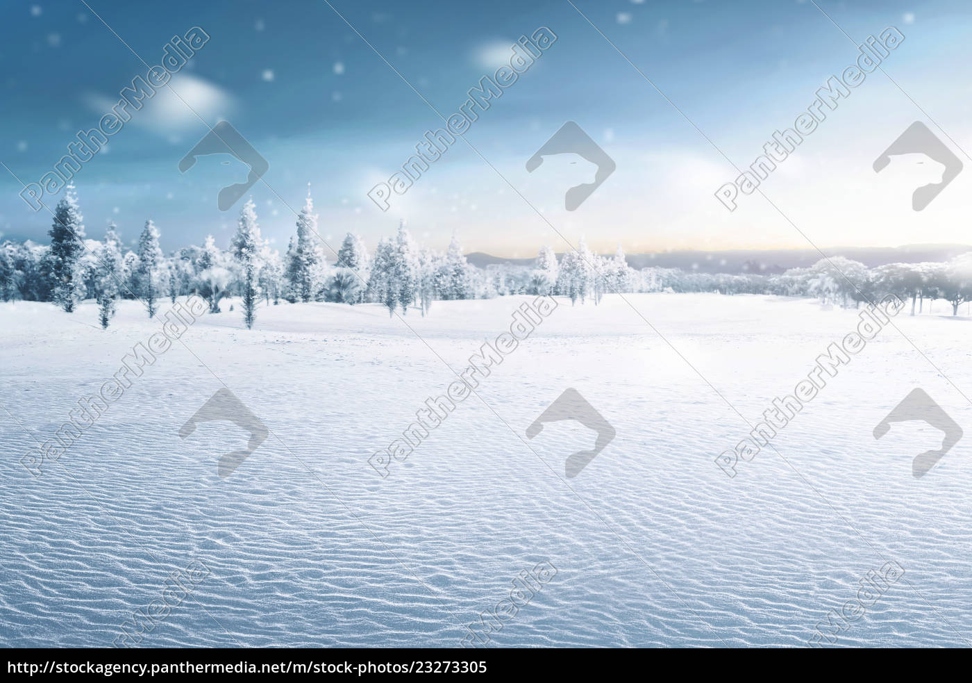 landscape, of, snowy, field, with, frozen - 23273305