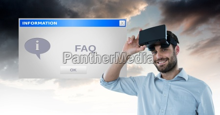 portrait of smiling man with vr