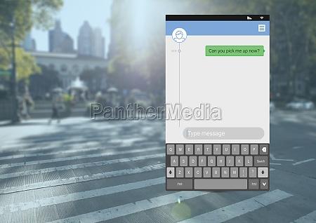 social media messenger app interface on