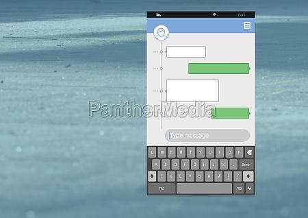 social media messenger app interface