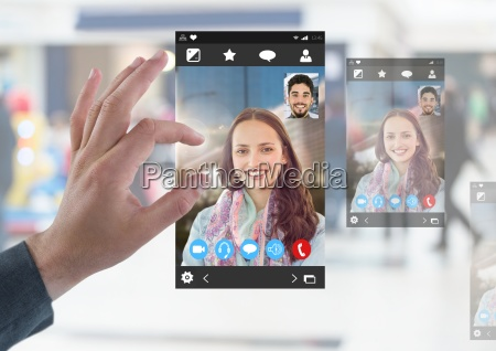 hand touching social video chat app