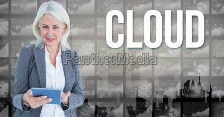 digital image of businesswoman holding book