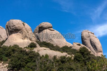 view of montserrat mountains barcelona catalonia