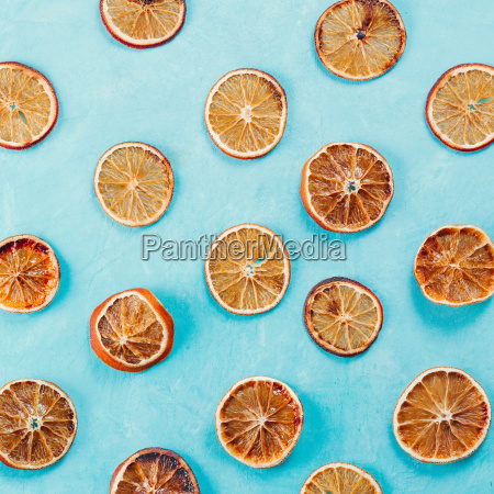 pattern with dried orange slices on
