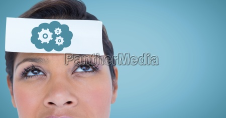 close up of woman with card