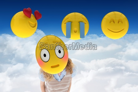 woman with smiley on her face