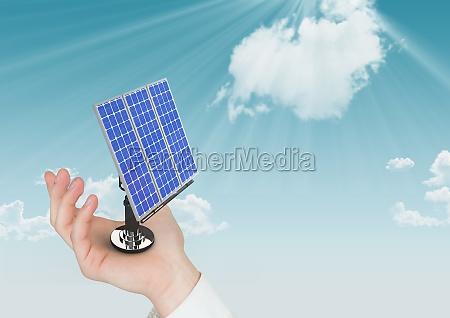 digital composite image of solar panel
