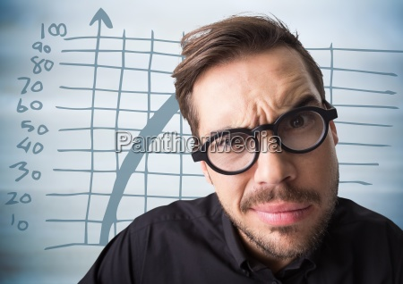 close up of confused man with