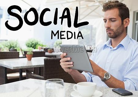 social media text against man in