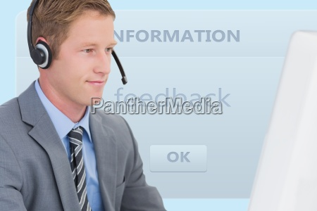 close up of businessman with