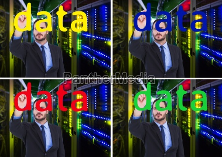 data worker writing data on the