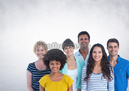 group of people standing in front