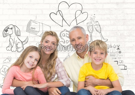family in front of family life