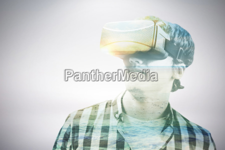 composite image of young man wearing