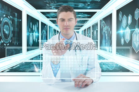 composite 3d image of doctor using