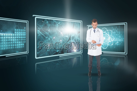composite 3d image of handsome doctor