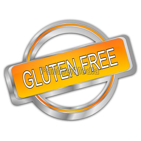 decorative silver orange gluten free button