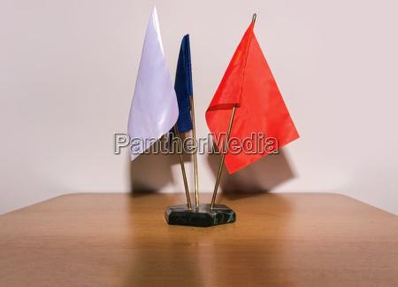 flag table flag blank white flag