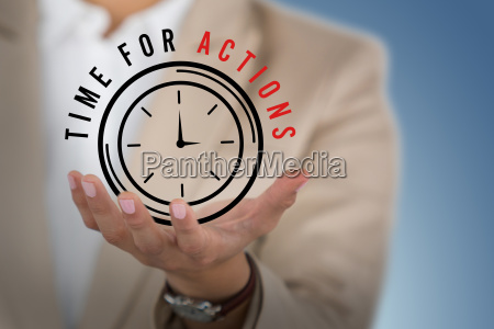 composite image of businesswoman using digital