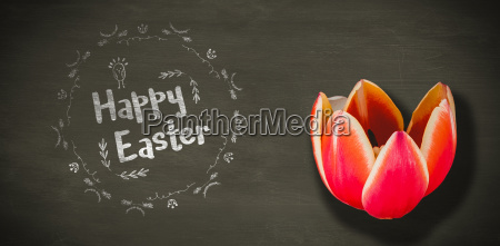 composite image of happy easter white