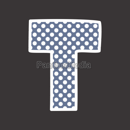 t alphabet vector letterbox with white